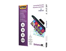Fellowes - 100 pochettes de plastification A4 (216 x 303 mm) - 80 microns - brillantes