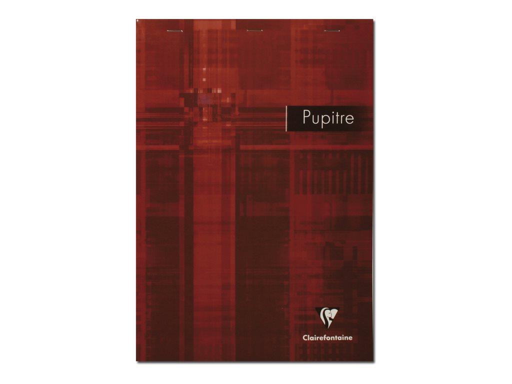 Clairefontaine - Bloc notes Pupitre livre de lecture - A4 - 160 pages - réglé avec marges