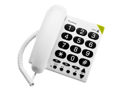 Doro PhoneEasy 311c - téléphone filaire - blanc