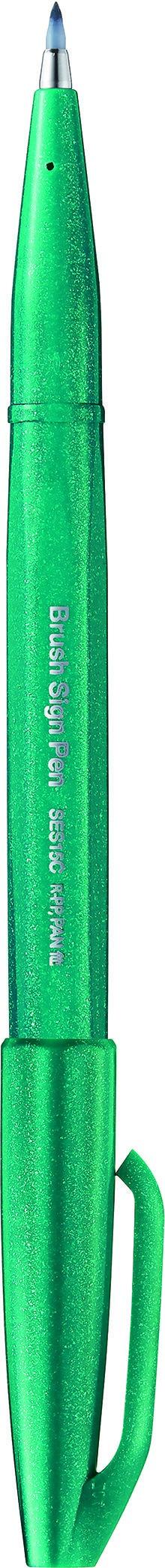 Pentel Sign pen - Feutre pinceau à pointe souple - vert turquoise