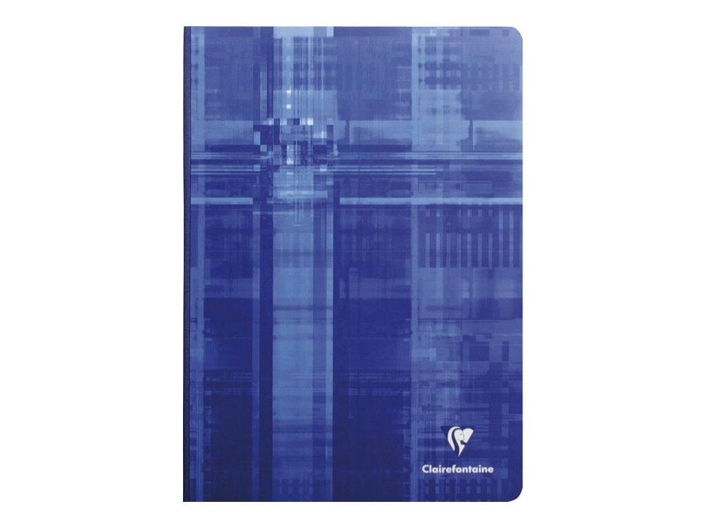 Clairefontaine - Cahier broché A4 (21x29,7 cm) - 192 pages - grands carreaux (Seyes) - disponible dans différentes couleurs