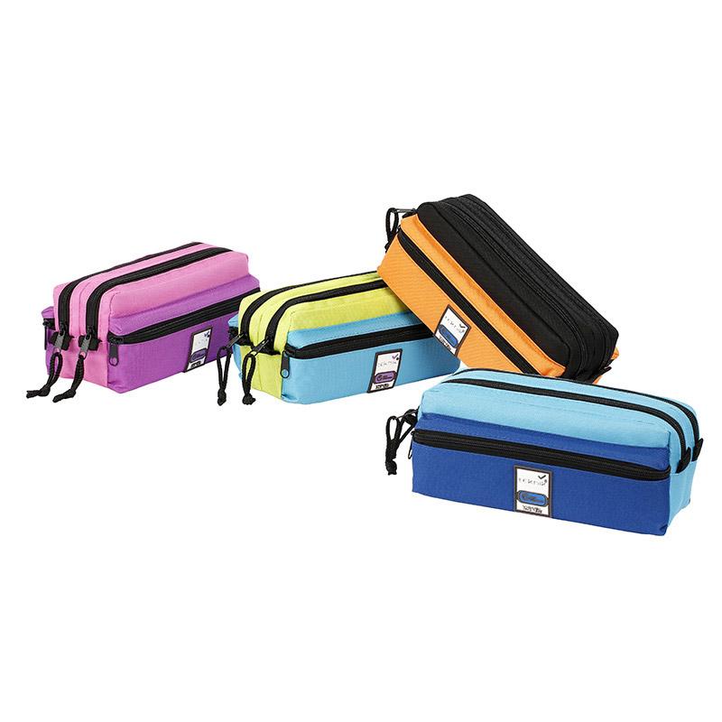 Trousse rectangulaire Teknik 4+ - 4 compartiments - 4 coloris disponibles - Viquel
