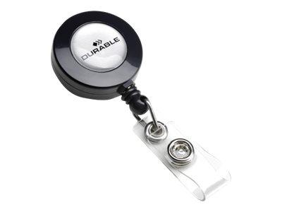 Durable - 10 Enrouleurs de badge - bouton pression