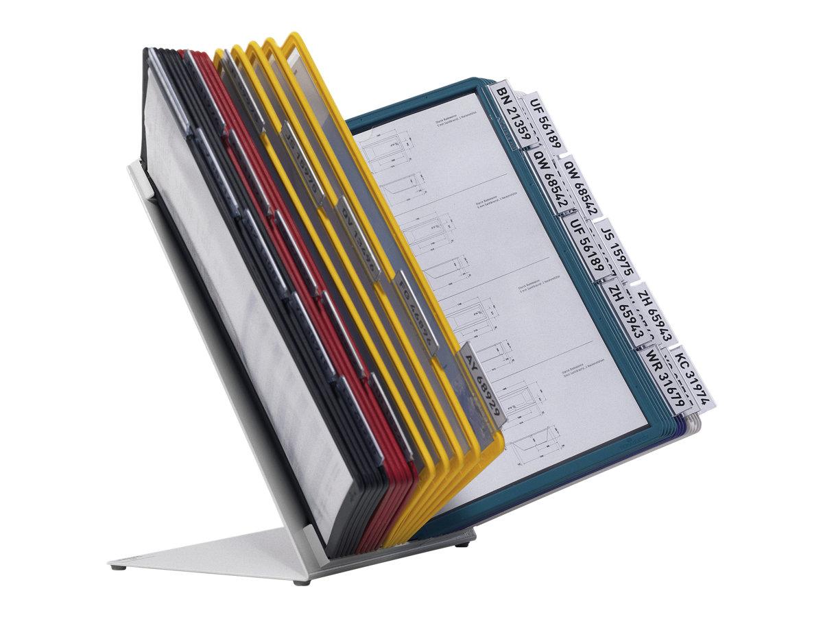 Durable Vario - Pupitre de table (lutrin) avec 30 pochettes A4 - couleurs assorties