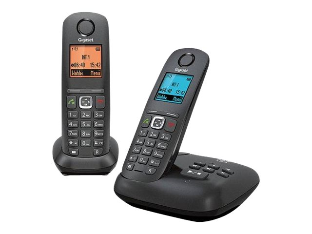 Gigaset A540A Duo - téléphone sans fil - avec répondeur + combiné supplémentaire - noir