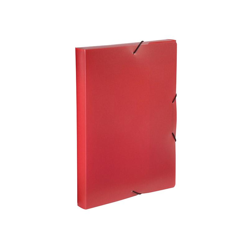 Viquel - Boîte de classement plastique - dos 30 mm - rouge