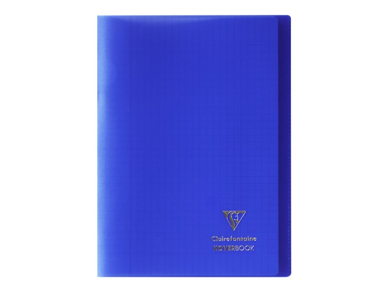 Clairefontaine Koverbook - Cahier polypro A4 (21x29,7 cm) - 96 pages - grands carreaux (Seyes) - bleu marine