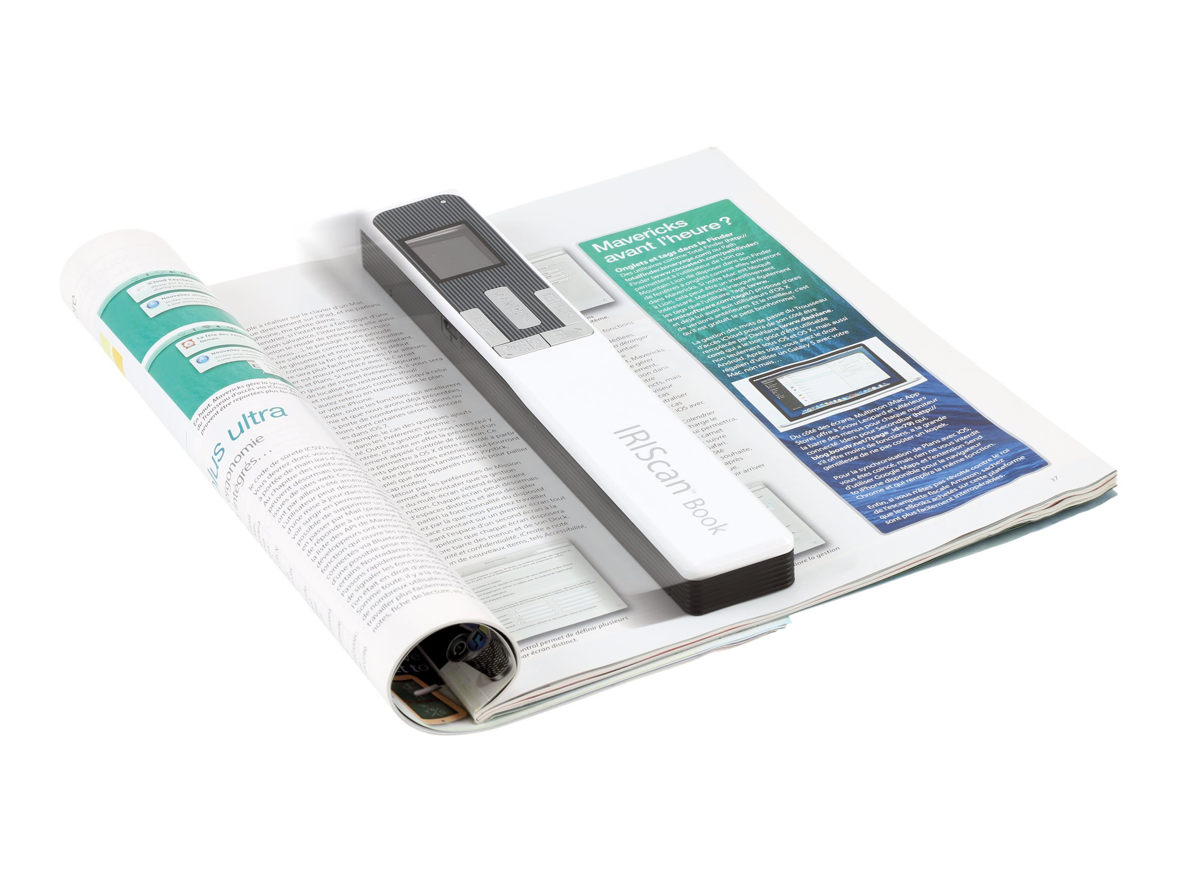 IRIScan Book 5 - scanner de documents A4 - portable - 1200 ppp x 1200 ppp - blanc - 30ppm