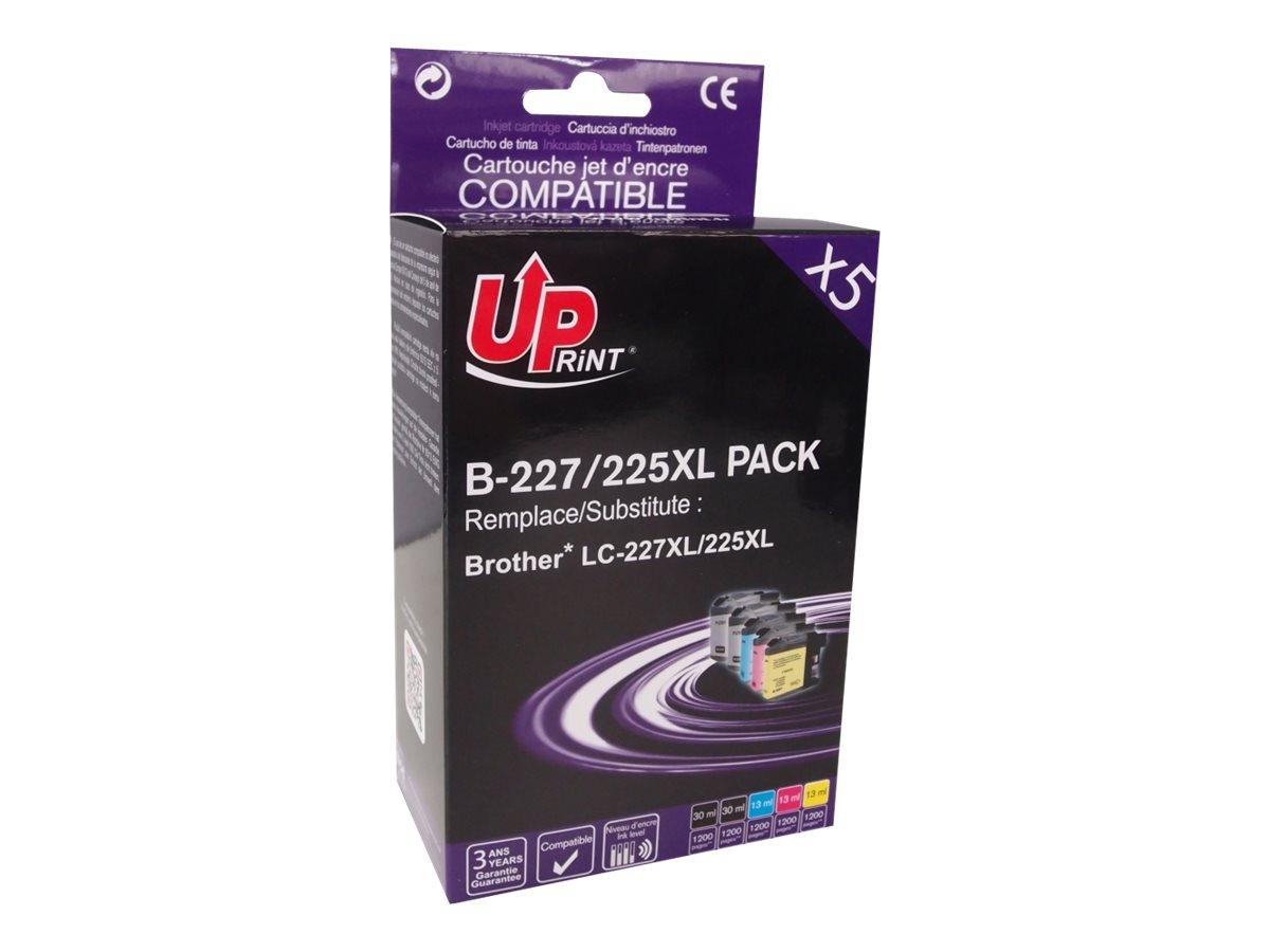 Brother LC225XL/LC227XL - compatible UPrint B.225XL - Pack de 5 - noir x2, cyan, magenta, jaune - cartouche d'encre