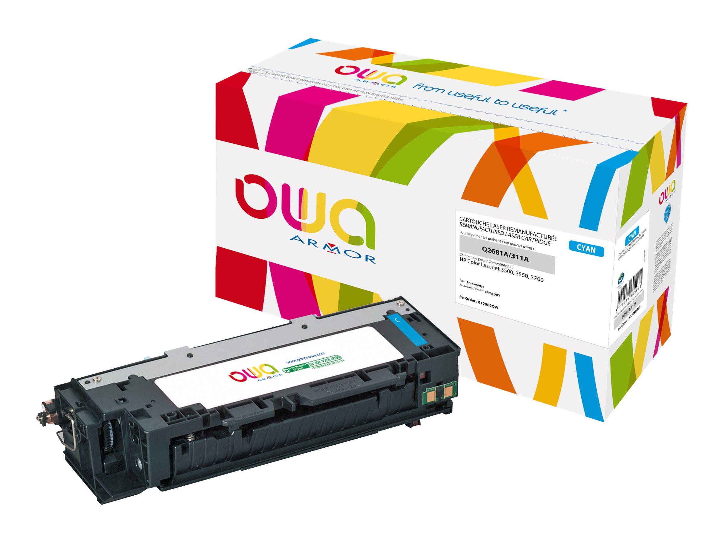 HP 311A - remanufacturé OWA K12089OW - cyan - cartouche laser