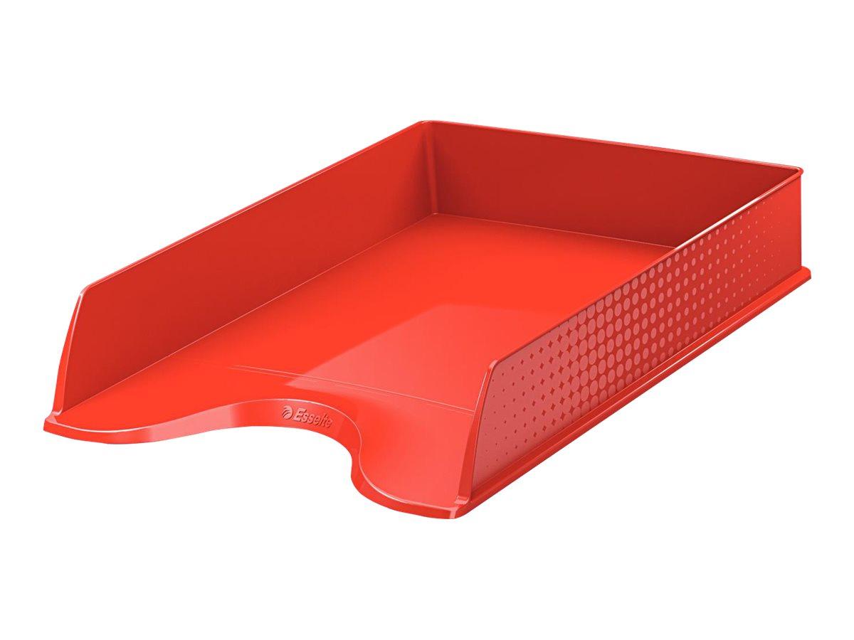 Esselte Fusion - Corbeille à courrier rouge opaque
