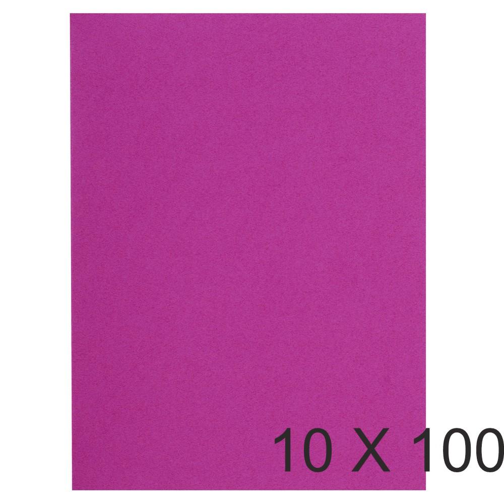 Exacompta Flash - 10 Paquets de 100 Sous-chemises recyclées - 80 gr - fuchsia