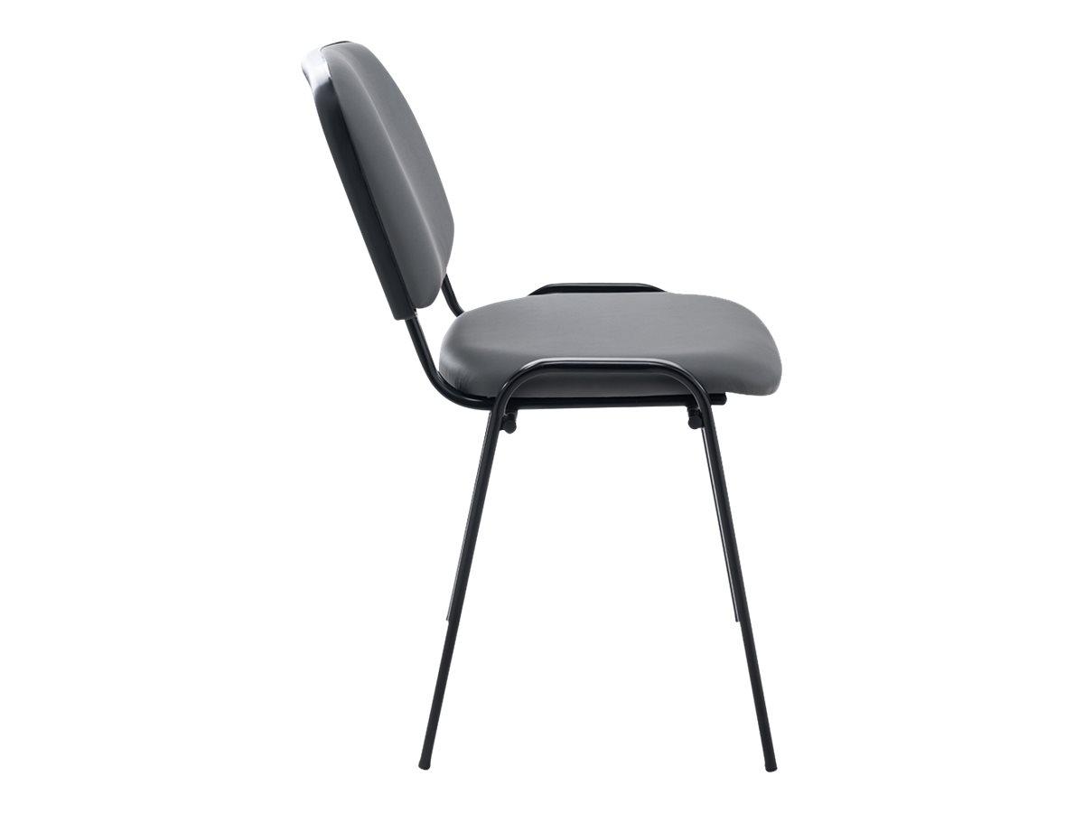 Chaise VISIMILI - empilable par 12 - gris