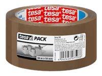 Tesapack - 6 Rubans adhésifs d'emballage - PP - 50 mm x 66 m- havane