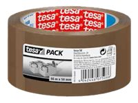 Tesa - Ruban adhésif d'emballage - PP - 66 m x 50 mm - havane