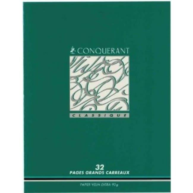 Conquérant Classique - Cahier d'écriture 3 mm - 17 x 22 cm - 32 pages