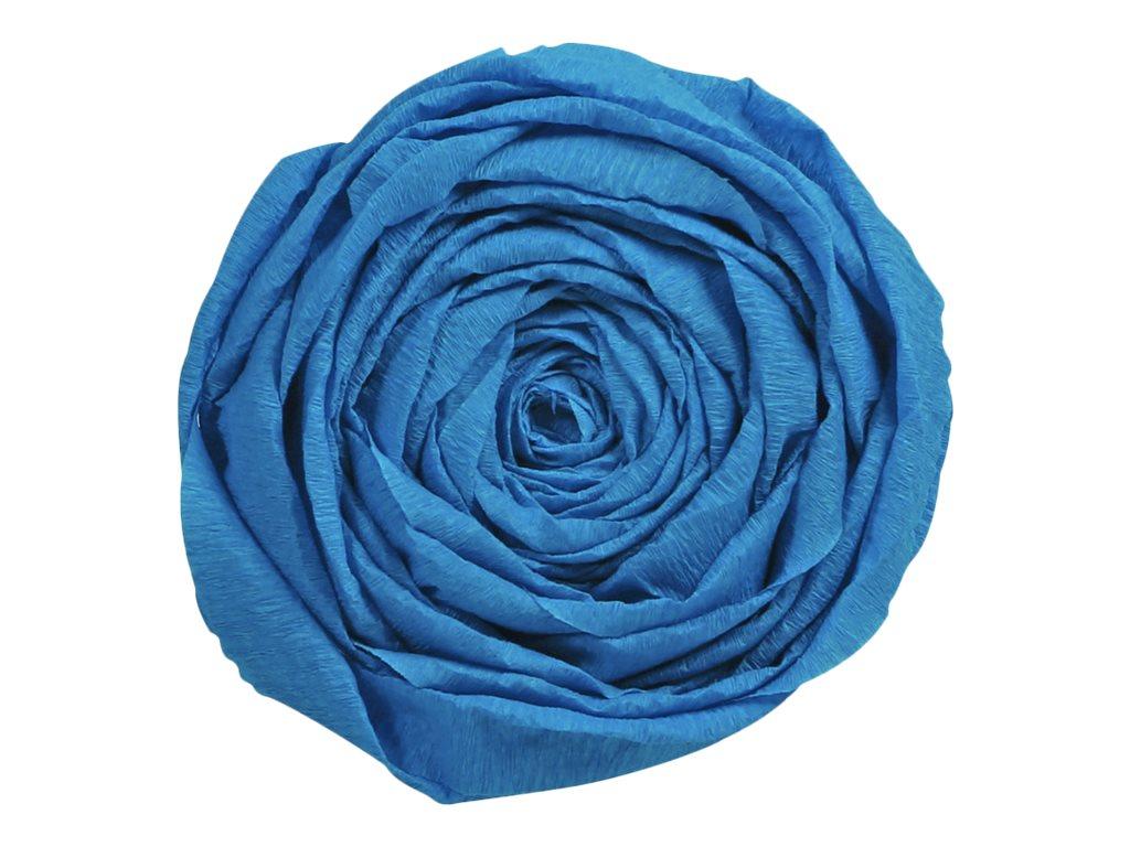 Clairefontaine Premium - Papier crépon - Rouleau 50 cm x 2,5 m - 40 g/m² - bleu pétrole