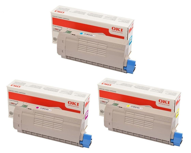 OKI 46507505 - jaune - cartouche laser d'origine