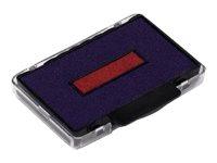 Trodat - 3 Encriers bicolores 6/53/2 recharges pour tampon 5440 - bleu/rouge