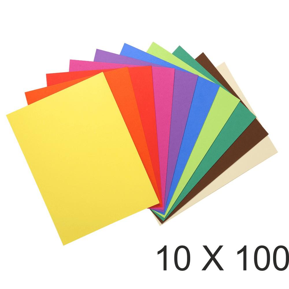 Exacompta Flash - 10 Paquets de 100 Sous-chemises recyclées - 80 gr - couleurs assorties