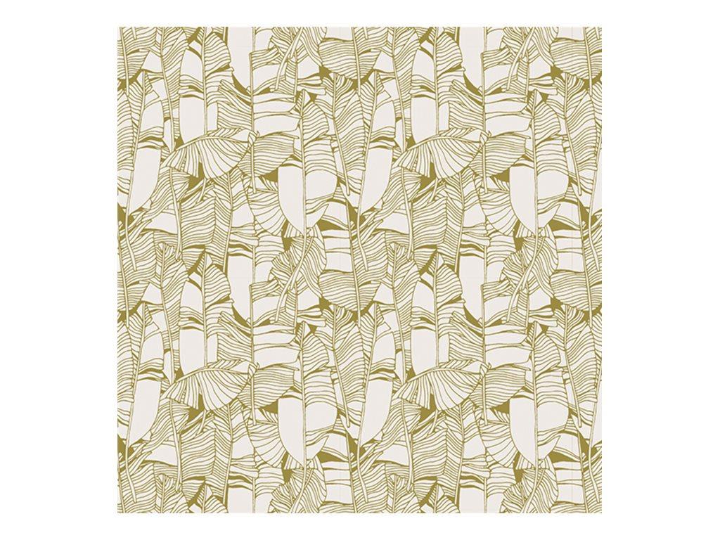 Clairefontaine Excellia - Papier cadeau - 70 cm x 50 m - 80 g/m² - motif feuilles or