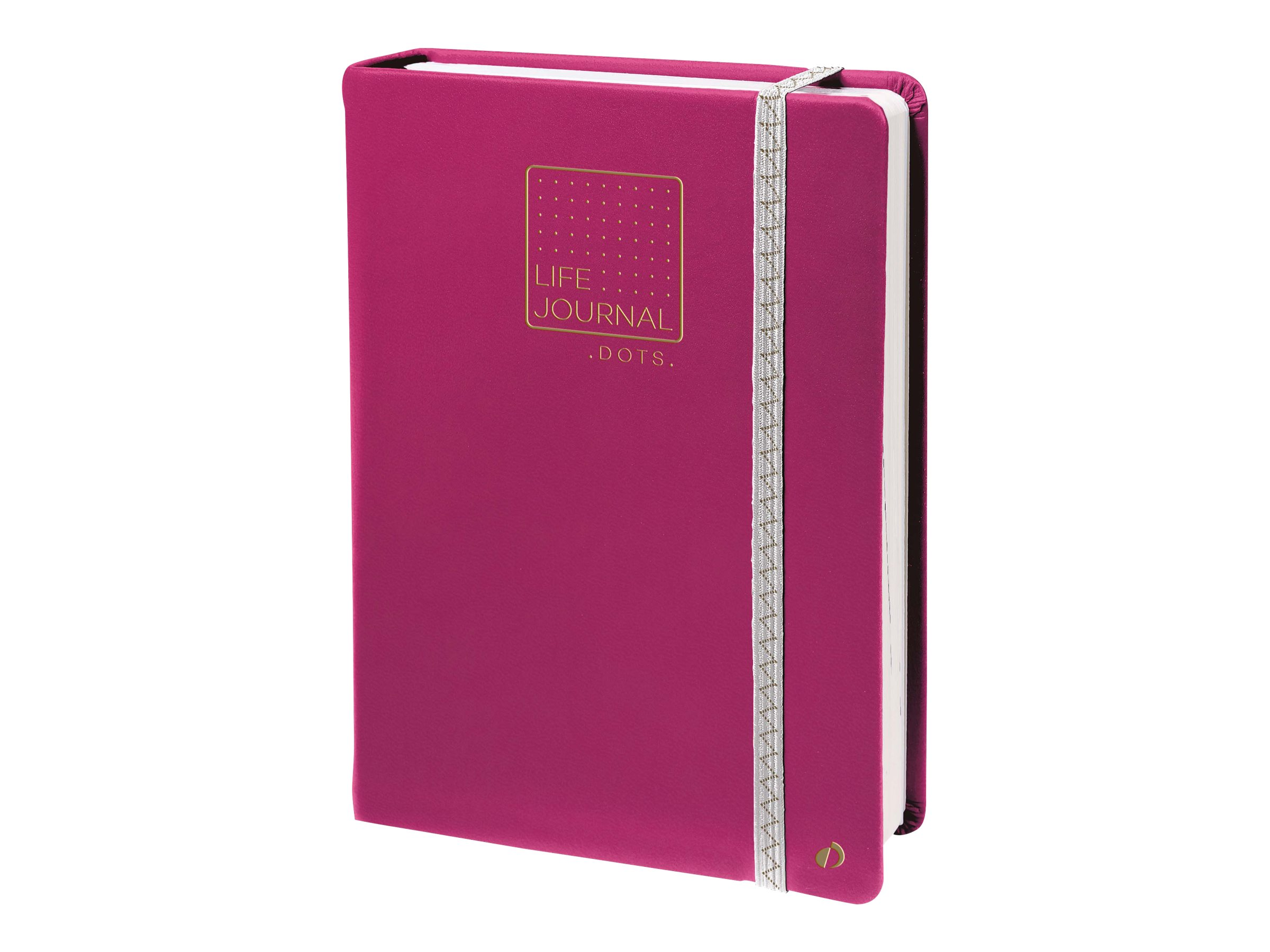 Quo Vadis Life Journal - Carnet de notes 15 x 21 cm - pointillés - prune