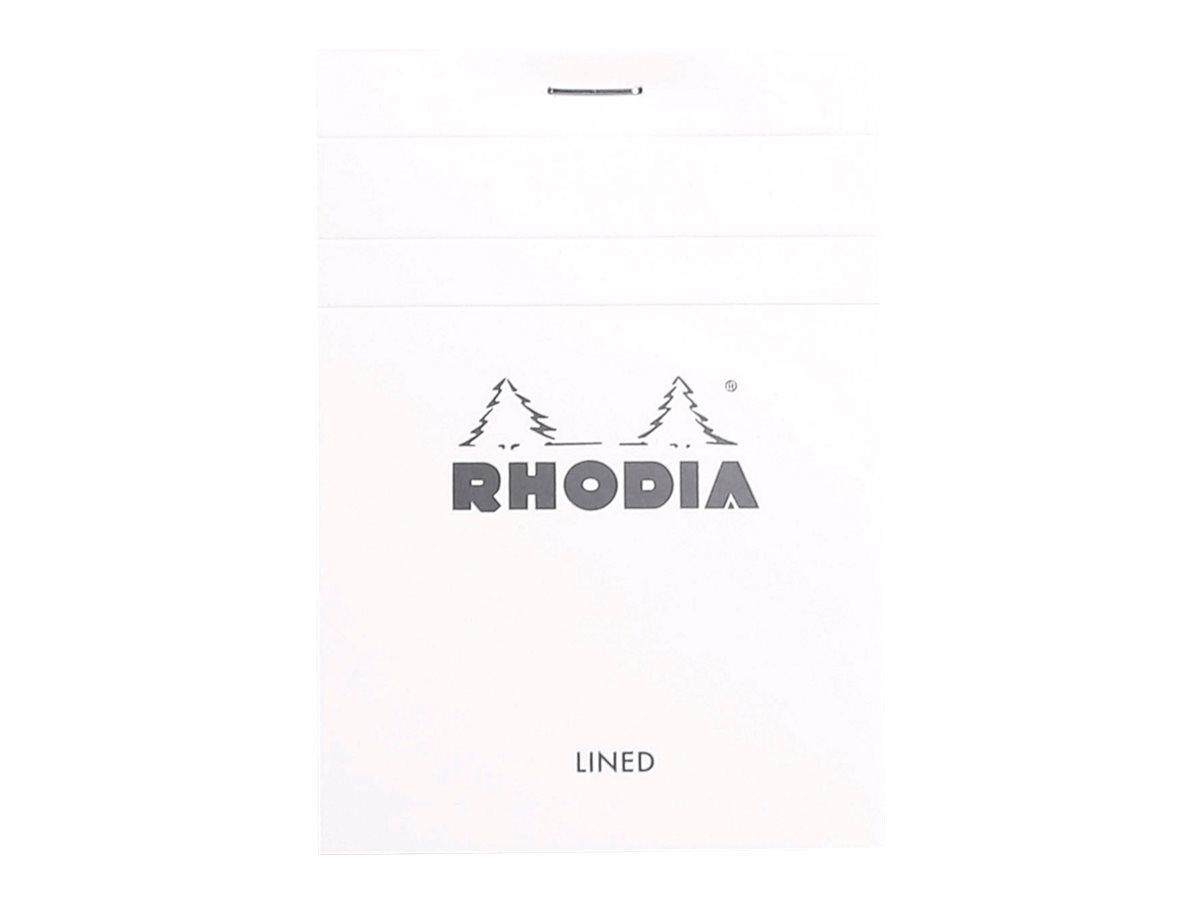 Rhodia - Bloc notes N°12 - A6 - 160 pages - petits carreaux - 80g - blanc