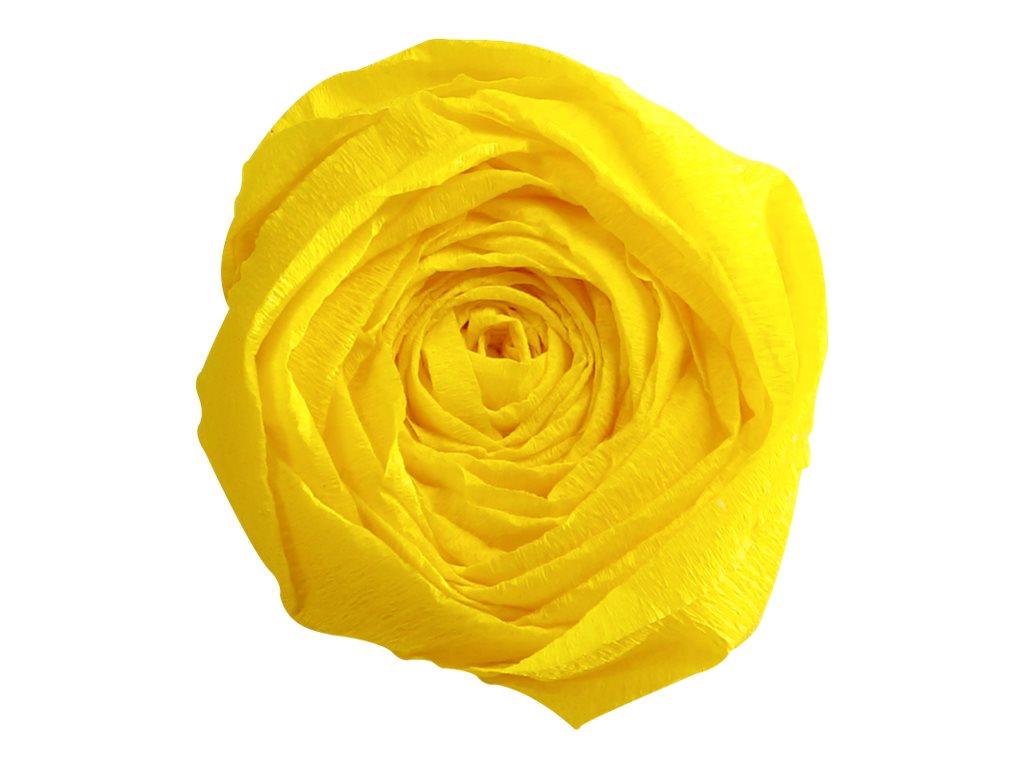 Clairefontaine Premium - Papier crépon - Rouleau 50 cm x 2,5 m - 40 g/m² - jaune citron