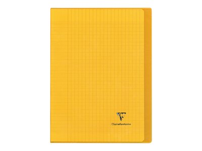 Clairefontaine Koverbook - Cahier polypro A4 (21x29,7 cm) - 96 pages - grands carreaux (Seyes) - jaune