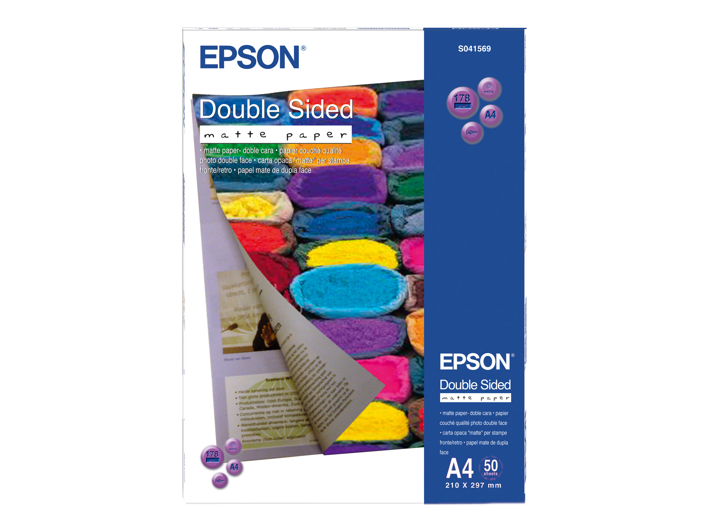 Epson - Papier photo couché 2 faces - A4 - 178 g/m² - 50 feuilles