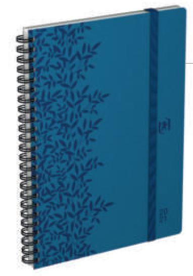 So Chic - Agenda spiralé à élastique - 1 semaine sur 2 pages - 15 x 21 cm - disponible dans différentes couleurs - Oxford