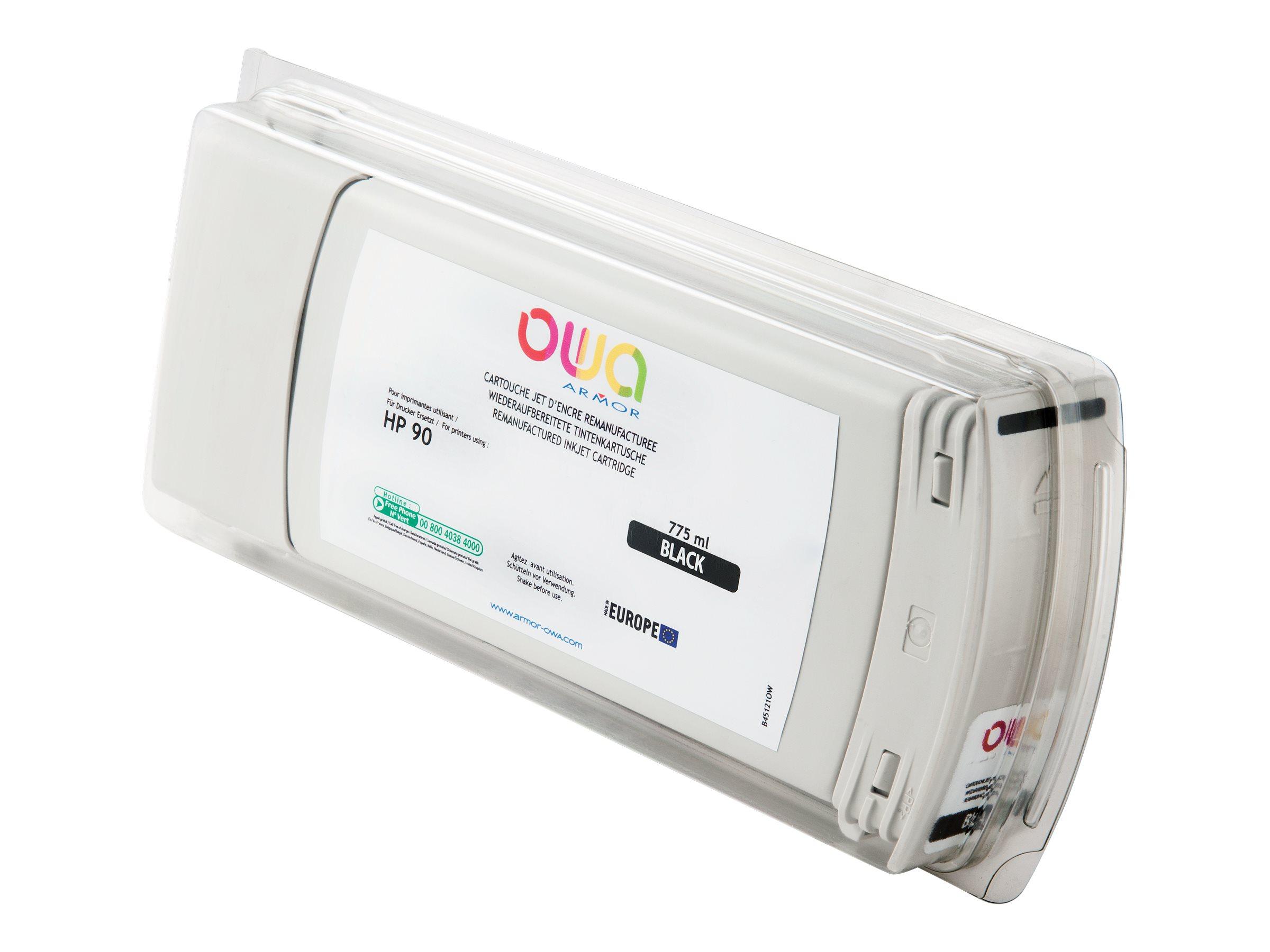 HP 90 - remanufacturé OWA B45121OW - noir - cartouche d'encre