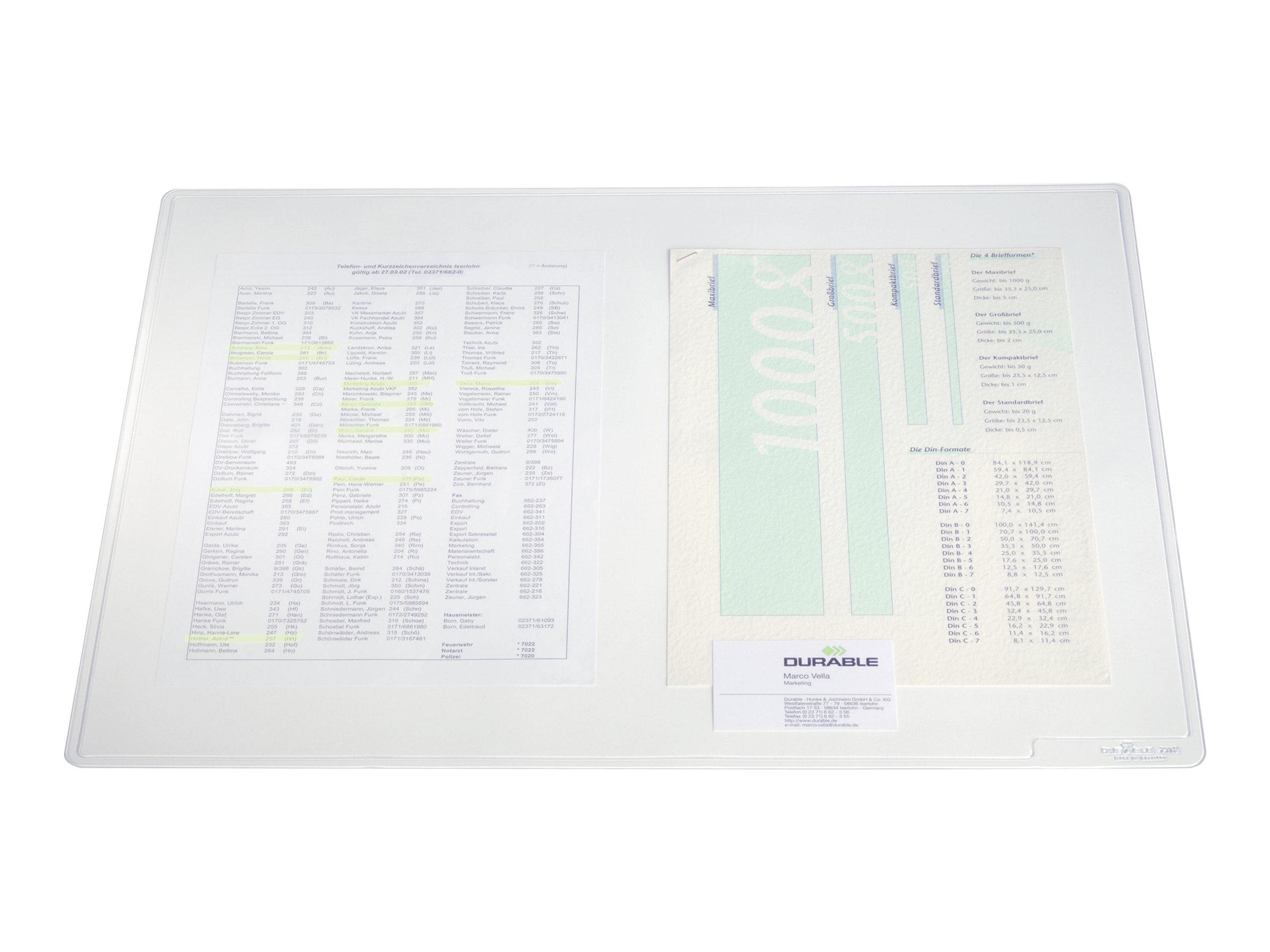 Durable Duraglas - Sous-main transparent