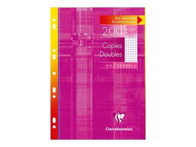Clairefontaine - 200 copies doubles A4 - petits carreaux (5x5 mm) - perforées