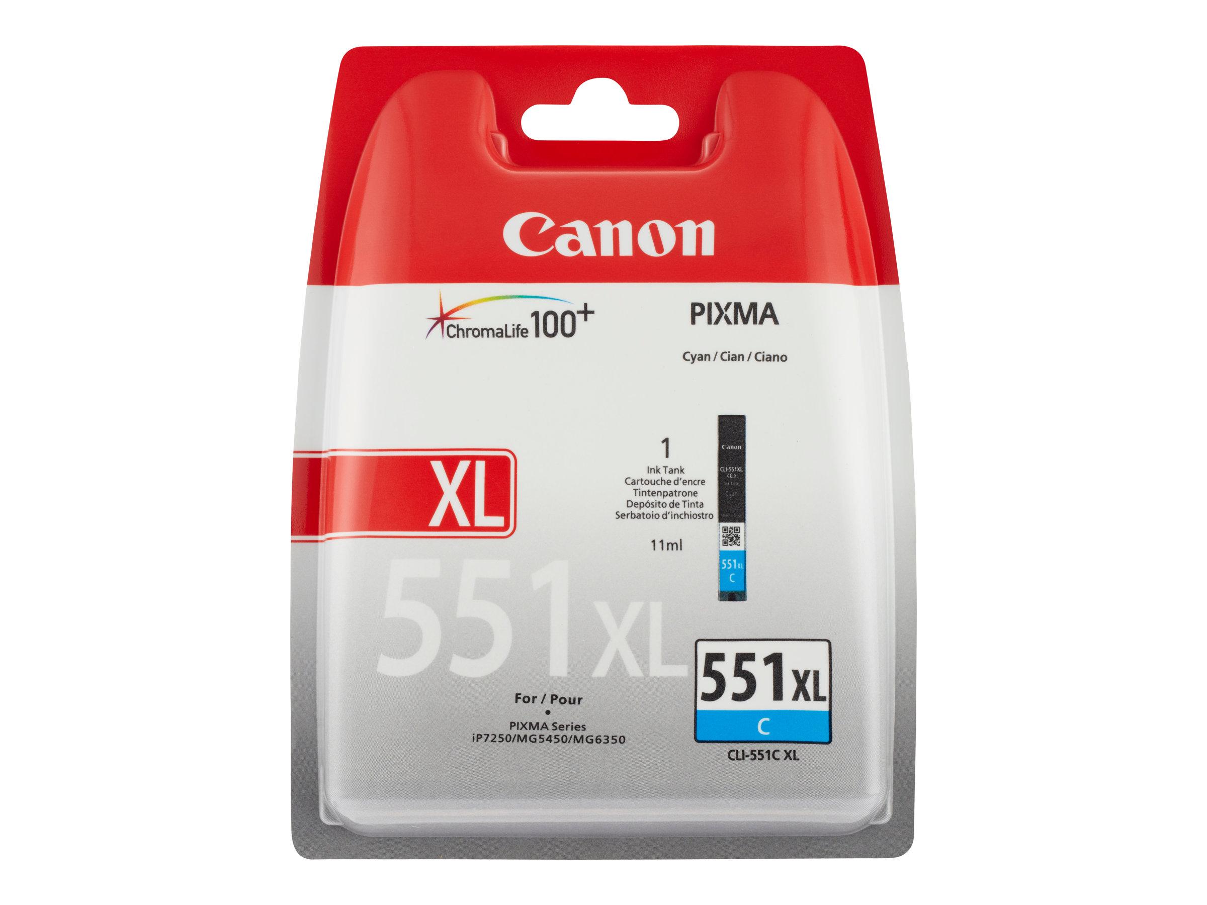 Canon CLI-551XL - cyan - cartouche d'encre originale