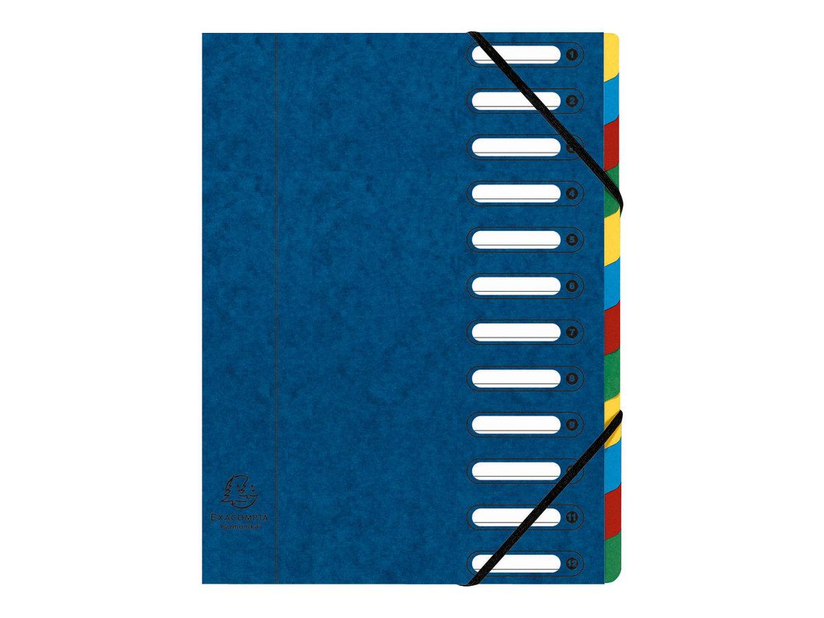 Exacompta Harmonika - Trieur à fenêtres 12 positions - disponible dans différentes couleurs