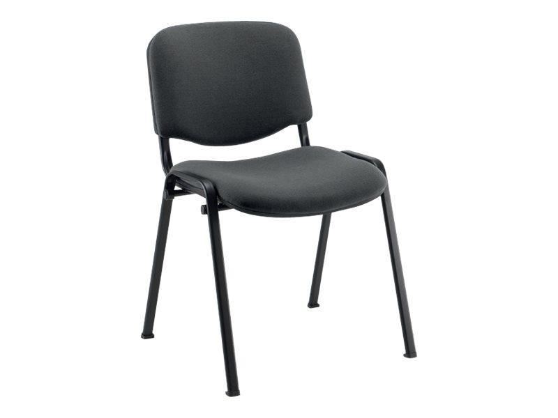 Chaise VISITEUR - accoudoir avec tablette en option - gris