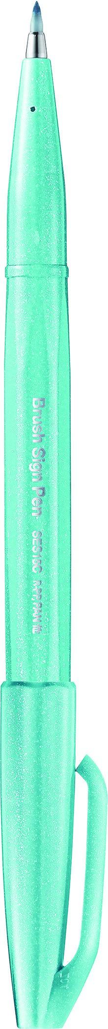 Pentel Sign pen - Feutre pinceau à pointe souple - bleu pastel