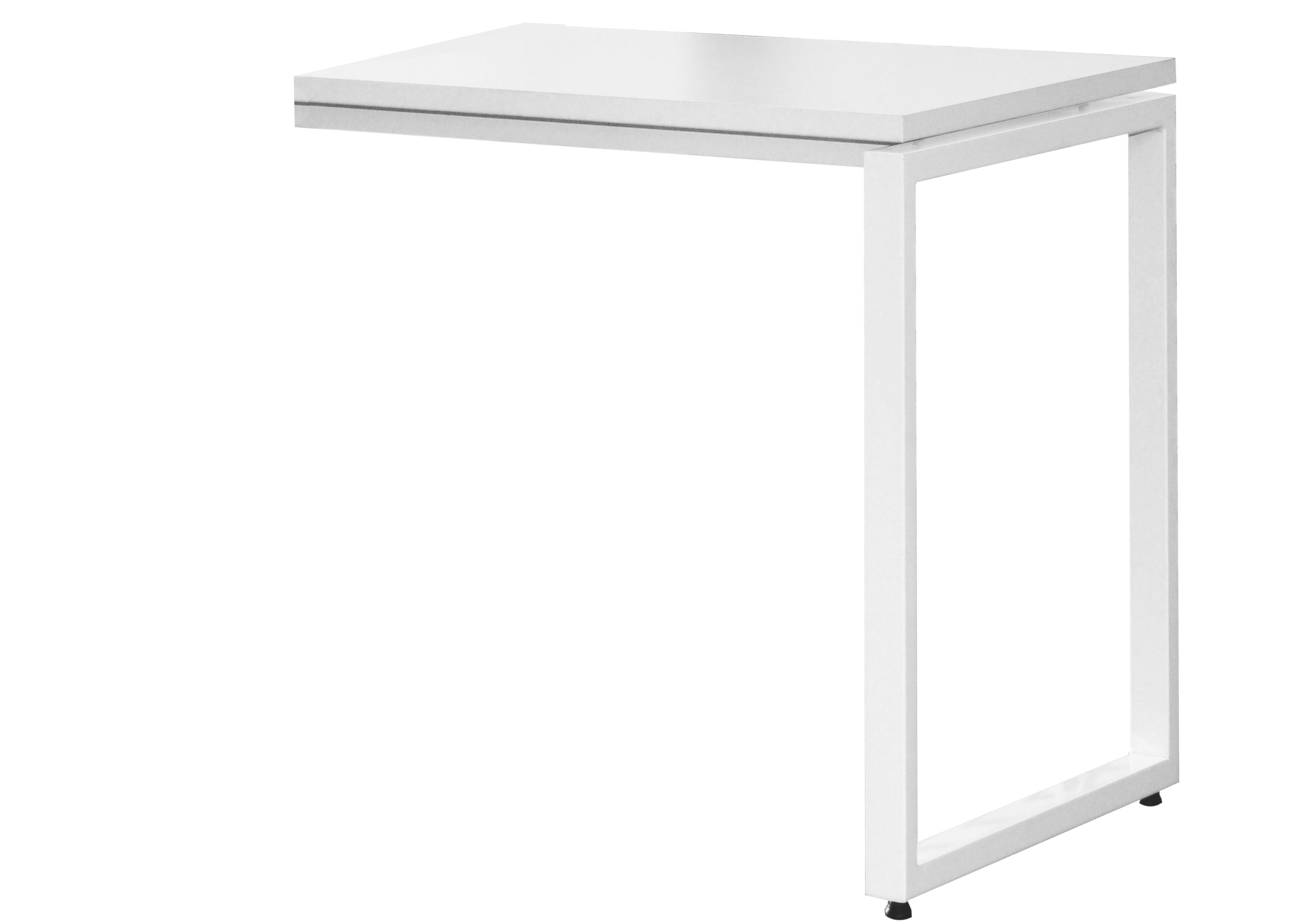 Retour bureau MT1 Elégance - L80 x P67 x H75 cm - pieds blancs - plateau blanc