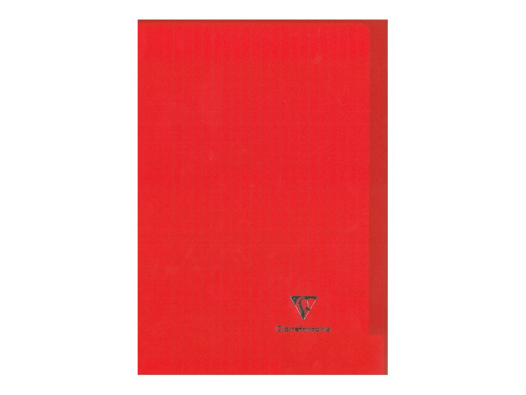 Clairefontaine Koverbook - Cahier polypro 24 x 32 cm - 96 pages - grands carreaux (Seyes) - rouge