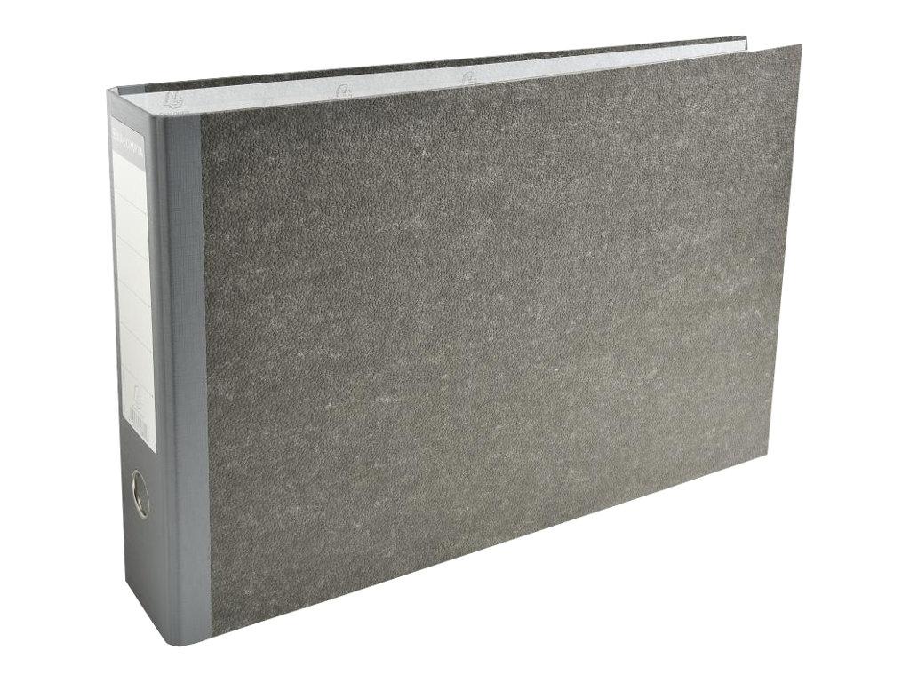 Exacompta - Classeur à levier - Dos 70 mm - A3 paysage - pour 550 feuilles - gris marbré avec dos gris