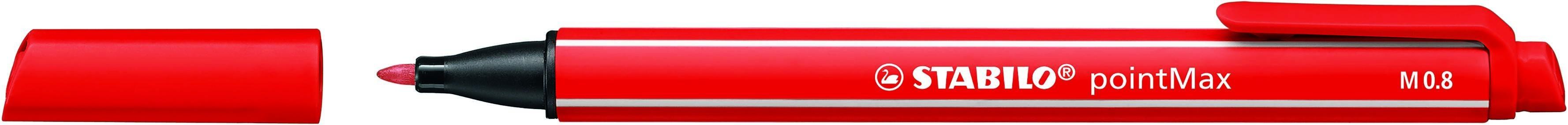 STABILO pointMax - Feutre d'écriture - pointe moyenne - rouge carmin