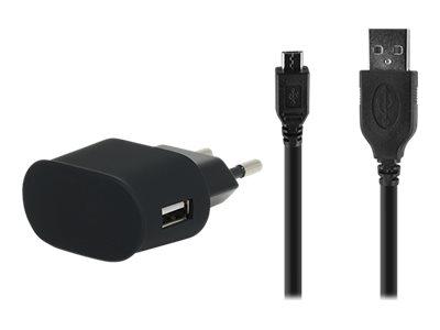 Bigben - chargeur secteur pour smartphone - 1 USB + 1 câble USB/micro USB