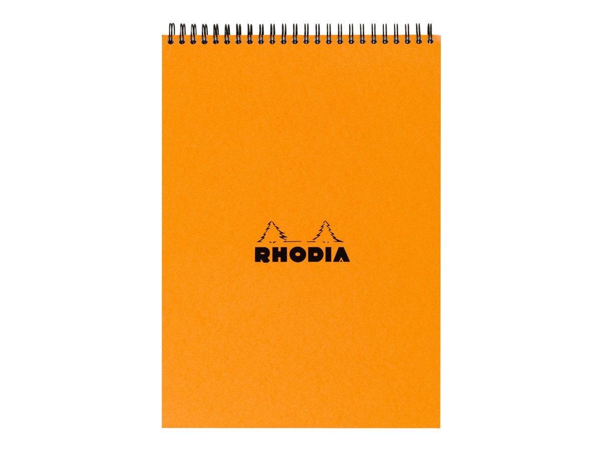 Rhodia - Bloc notes à spirale - A4 - 80 pages - petits carreaux