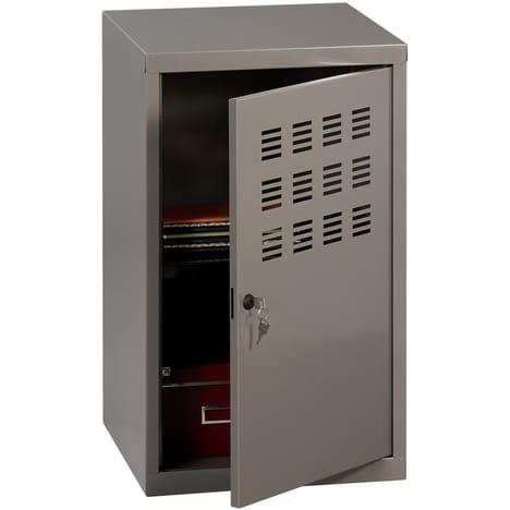 Casier de bureau avec pieds - 74 x 40 x 40 cm - gris souris