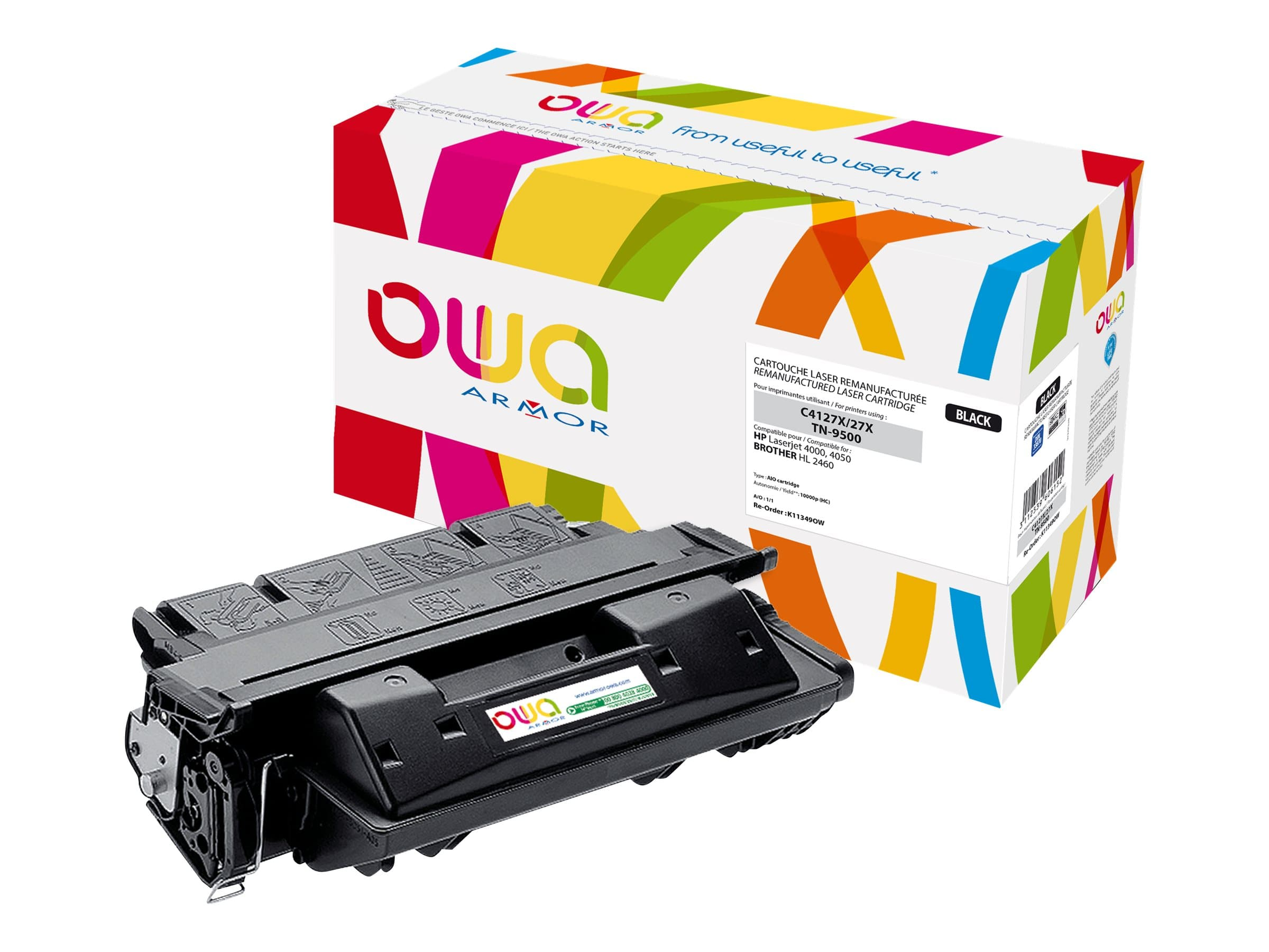 HP 27X / Brother TN9500 - remanufacturé Owa K11349OW - noir - cartouche laser