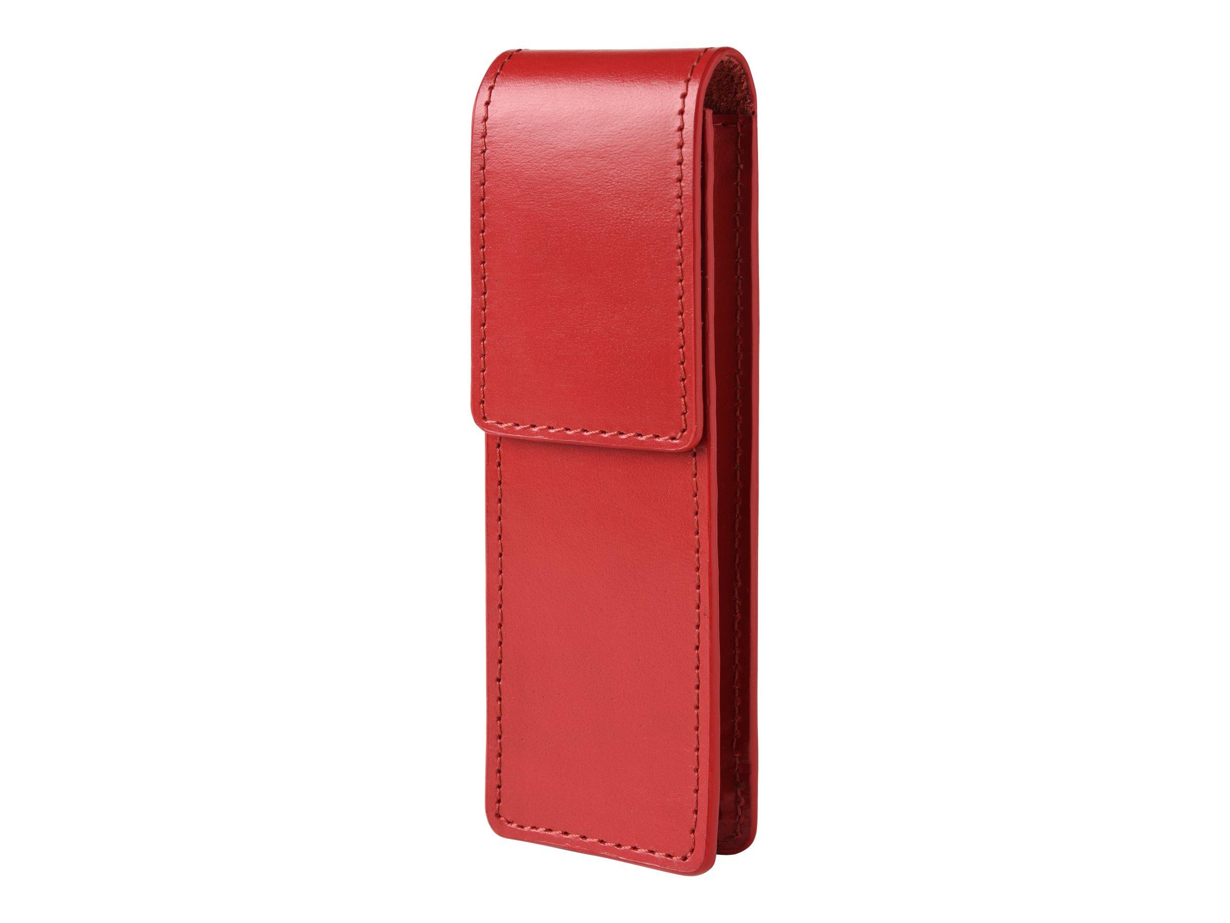 Oberthur Birmingham - Etui double pour stylos - rouge