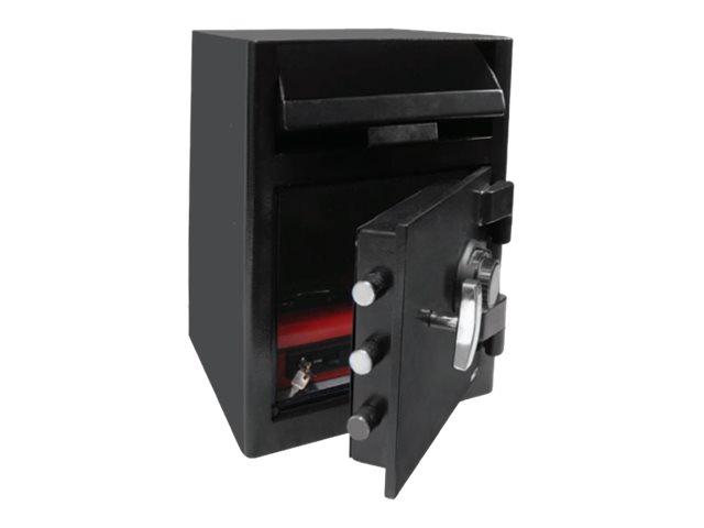 Reskal DS60 - Coffre-fort de dépôt 75 kg - serrure à combinaison mécanique - acier noir