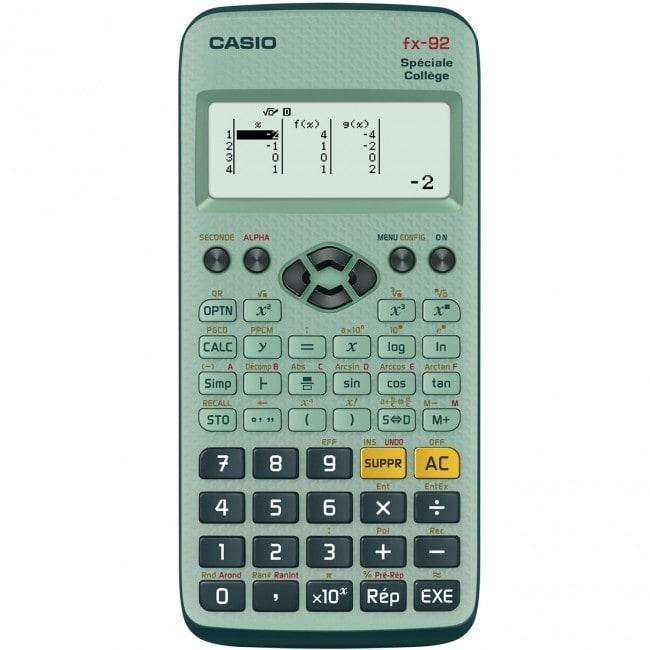 Calculatrice scientifique Casio FX 92+ - calculatrice spéciale Collège