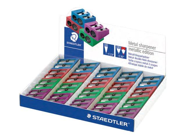 STAEDTLER - Taille crayon - 2 trous métal - plusieurs coloris disponibles